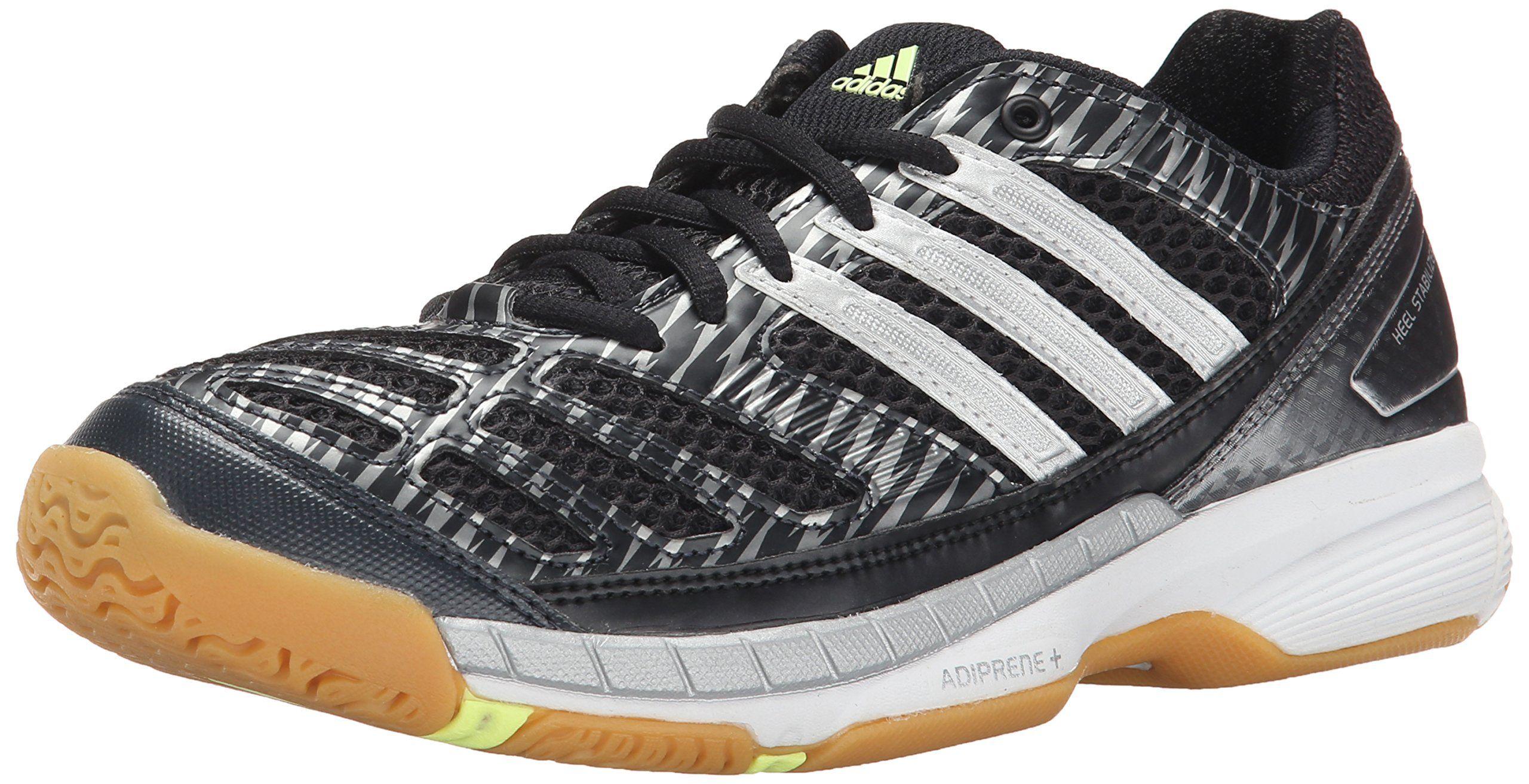 Adidas Performance Women S Volley Assault Shoe Black Silver Frozen Yellow 6 5 M Us Open Mesh Upper Womens Athletic Shoes Volleyball Shoes Athletic Shoes Nike