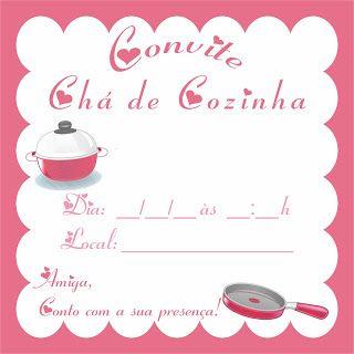 Convite Chá De Cozinha Mensagens E Frases Em 2019