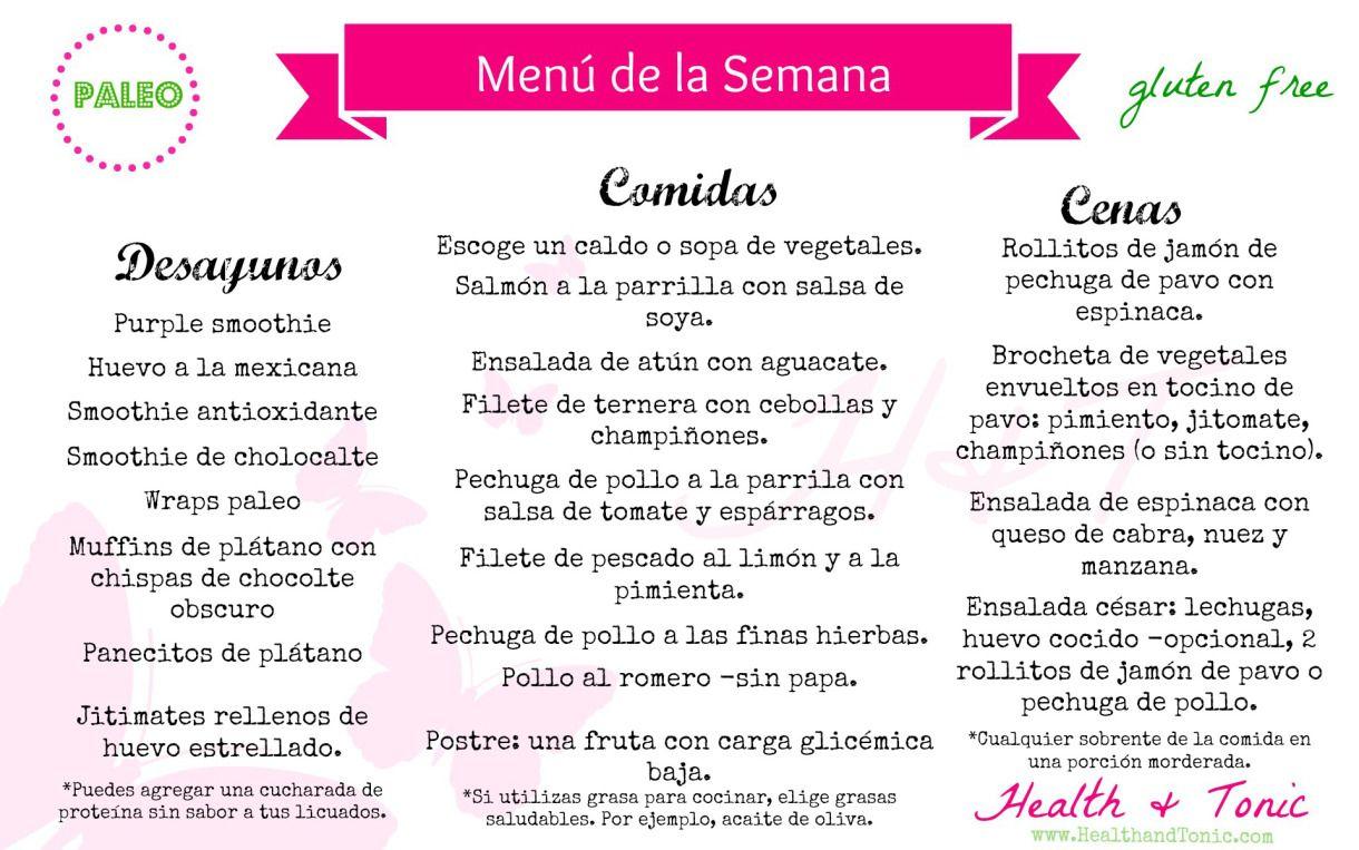menu dieta paleolitica menu semanal