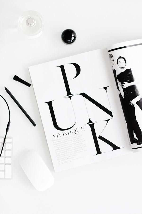 deco atelier Black mood Typography, Fashion magazine