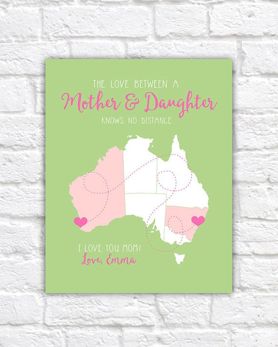 Australia map custom gifts for mom long distance mother australia map custom gifts for mom long distance mother daughter art grandmother negle Image collections