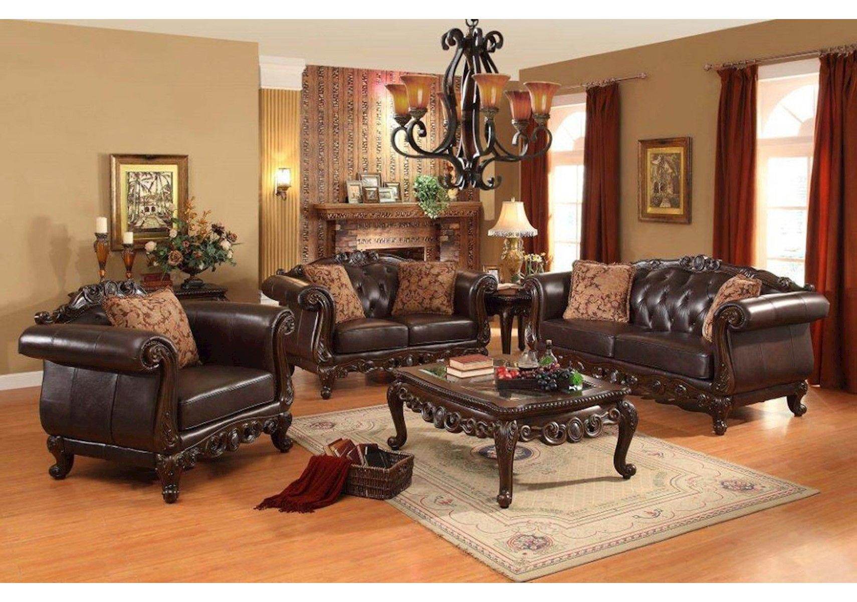 Lacks Chelsea 2 Pc Living Room Set Traditional Style Home