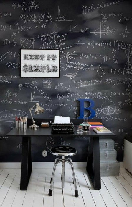 25 Amazing Chalkboard Wall Paint Ideas Small Office Decor