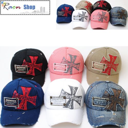 9458f33ba0e Men Women Vintage Washing Baseball Ball Cap Cross emblem Casual Hat 6  Colors B24