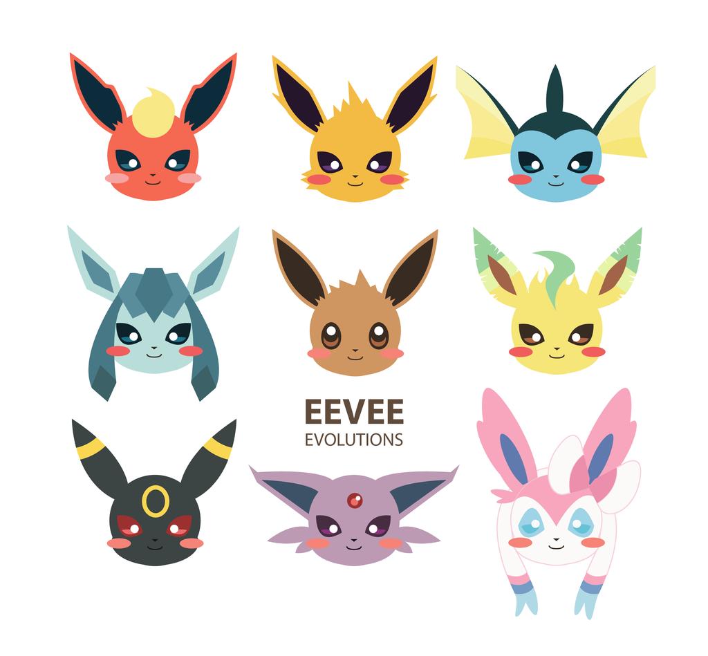 eevee evolution eevee evolutions by pickacolour pokemon eevee