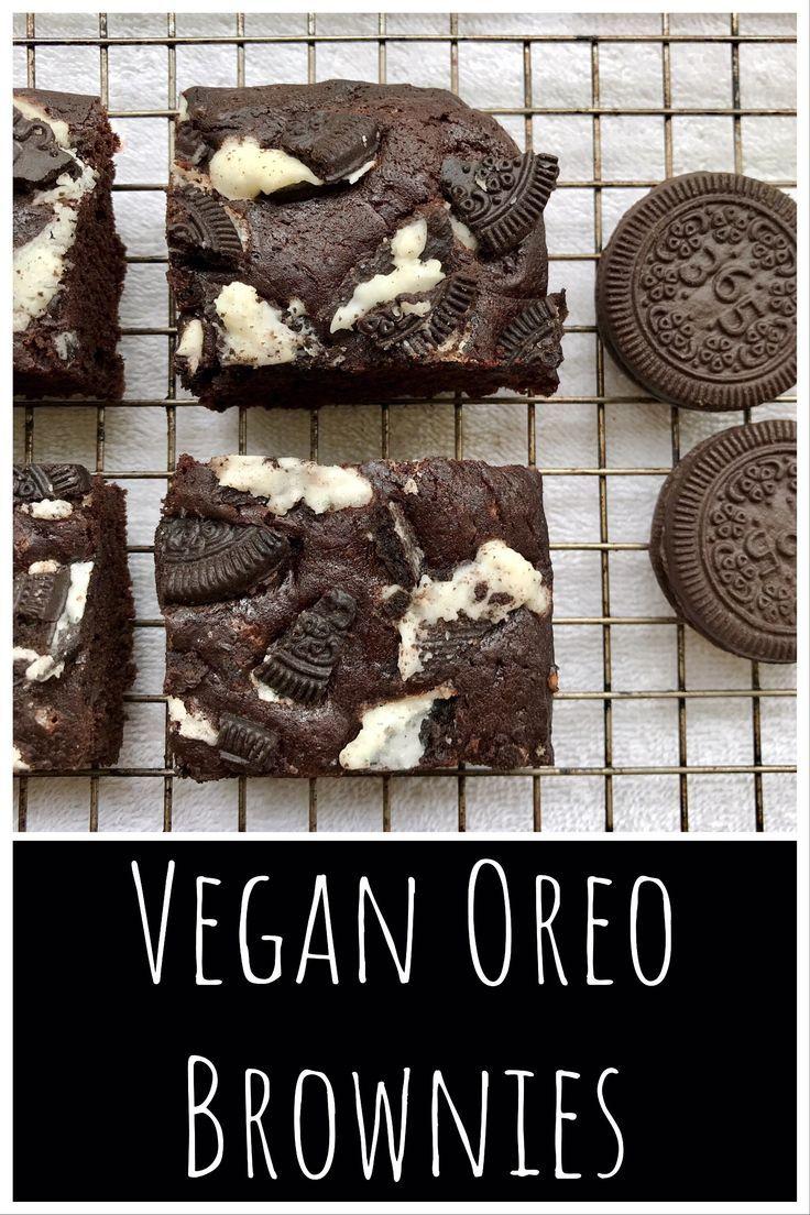 Delicious vegan oreo brownies  #vegan #yum #oreos #brownies