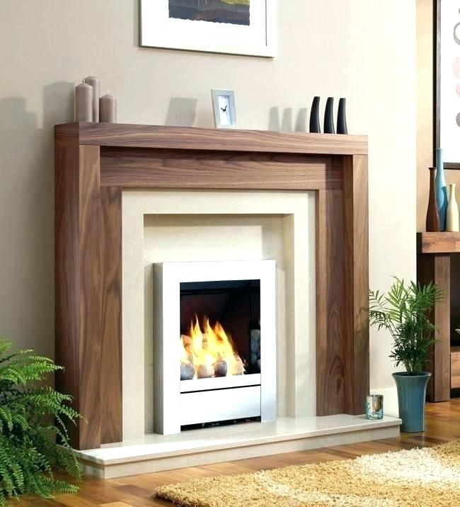 modern fireplace surround - Google Search in 2020   Wood ...