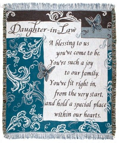 Personalized Daughter In Law Inspirational Tapestry Throw Words To