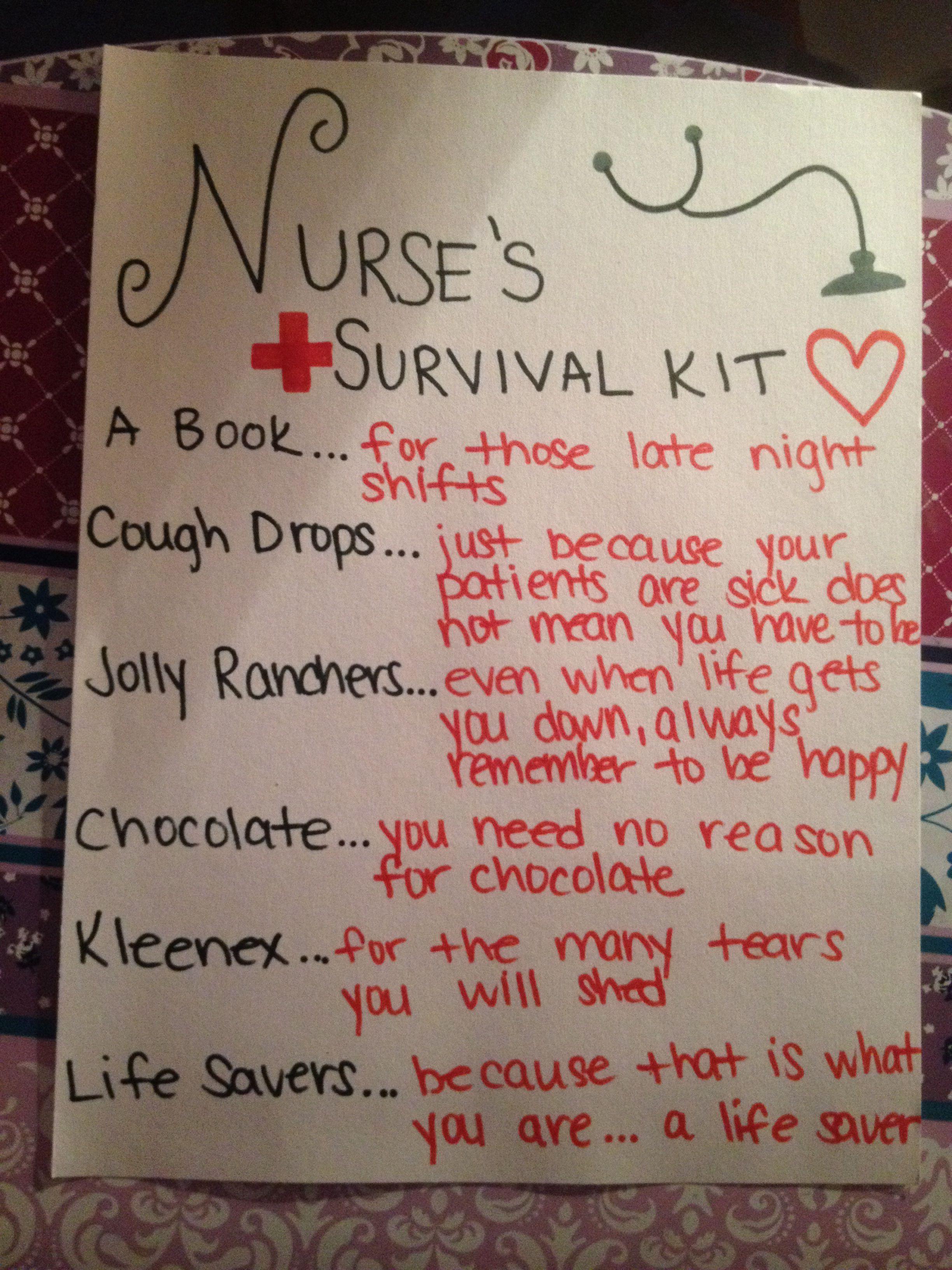 Nurse's Survival Kit Survival kit, Survival kit gifts