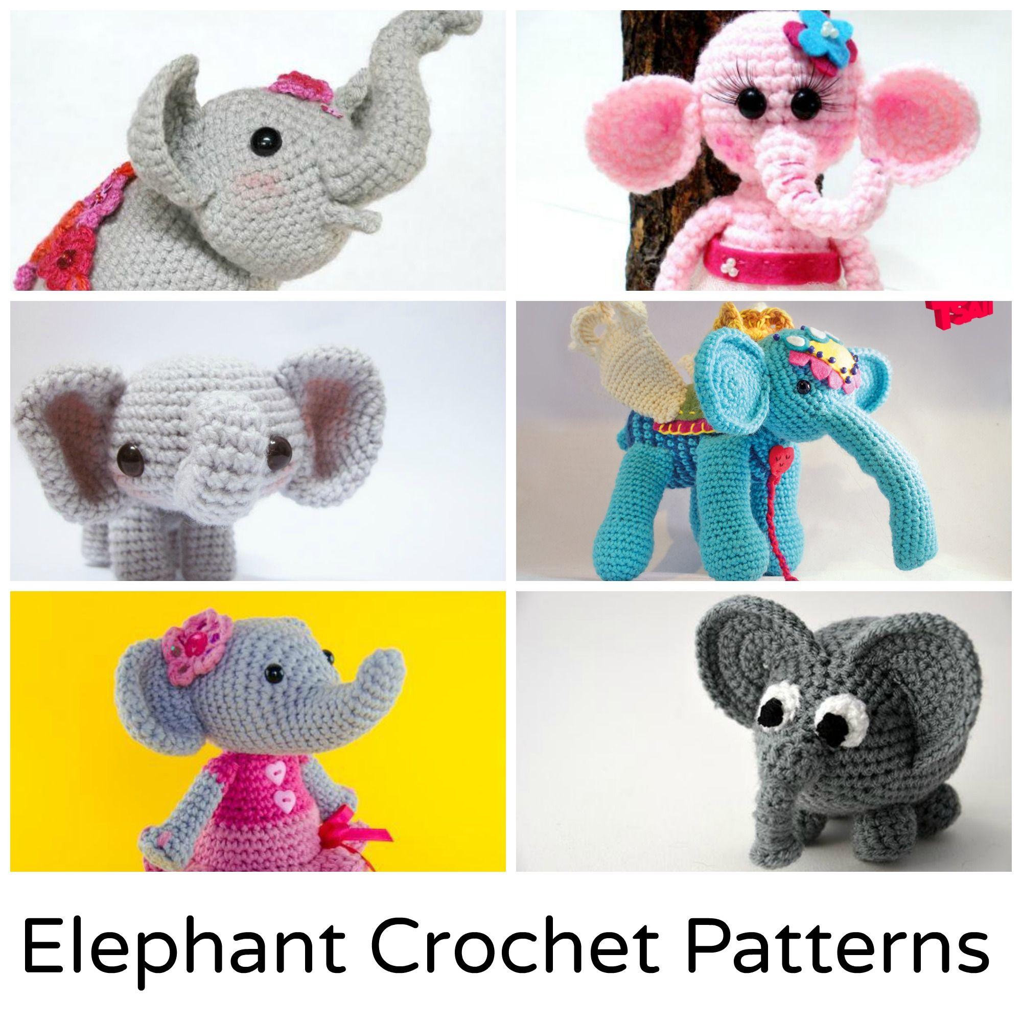 Crochet Elephant: 12 Amigurumi Patterns to Stitch | Ganchillo y Animales