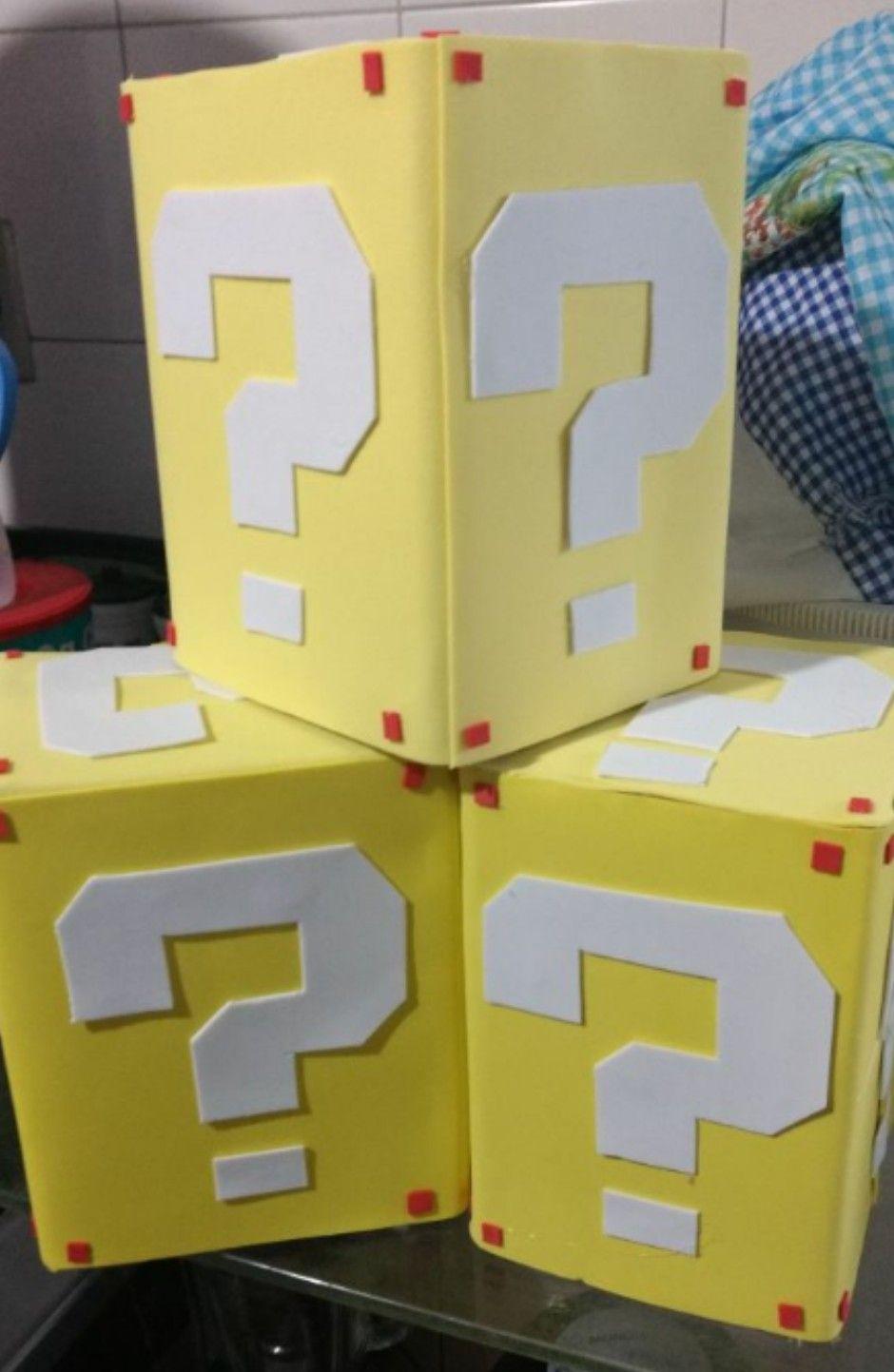 Caixas personalizadas com EVA Super Mario Bros Super Mario