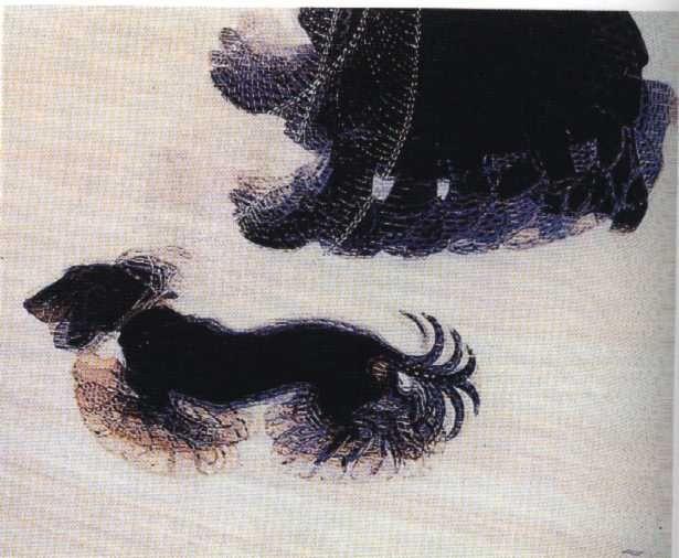 dinamismo di un cane al guinzaglio