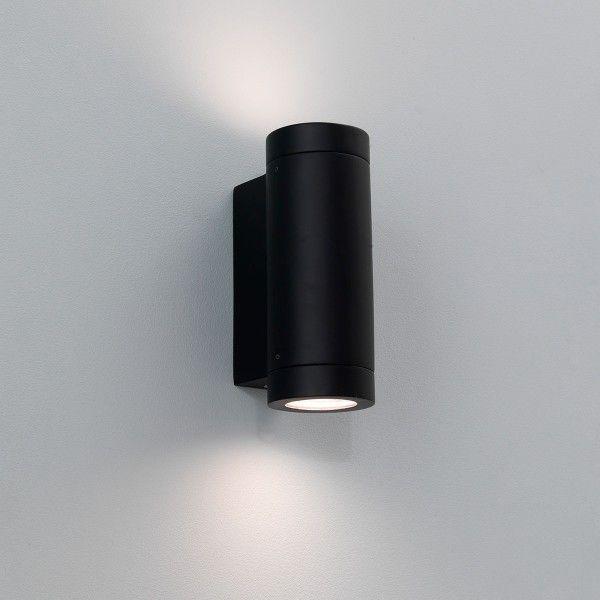 Astro Porto Plus Twin Black Outdoor Wall Light Exterior Wall Light Wall Lights Black Outdoor Wall Lights