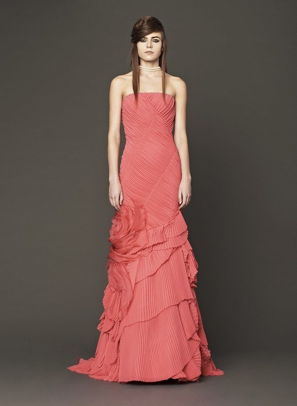 Vera Wang shocked with a hot pink hued bridal gown collection - collection note