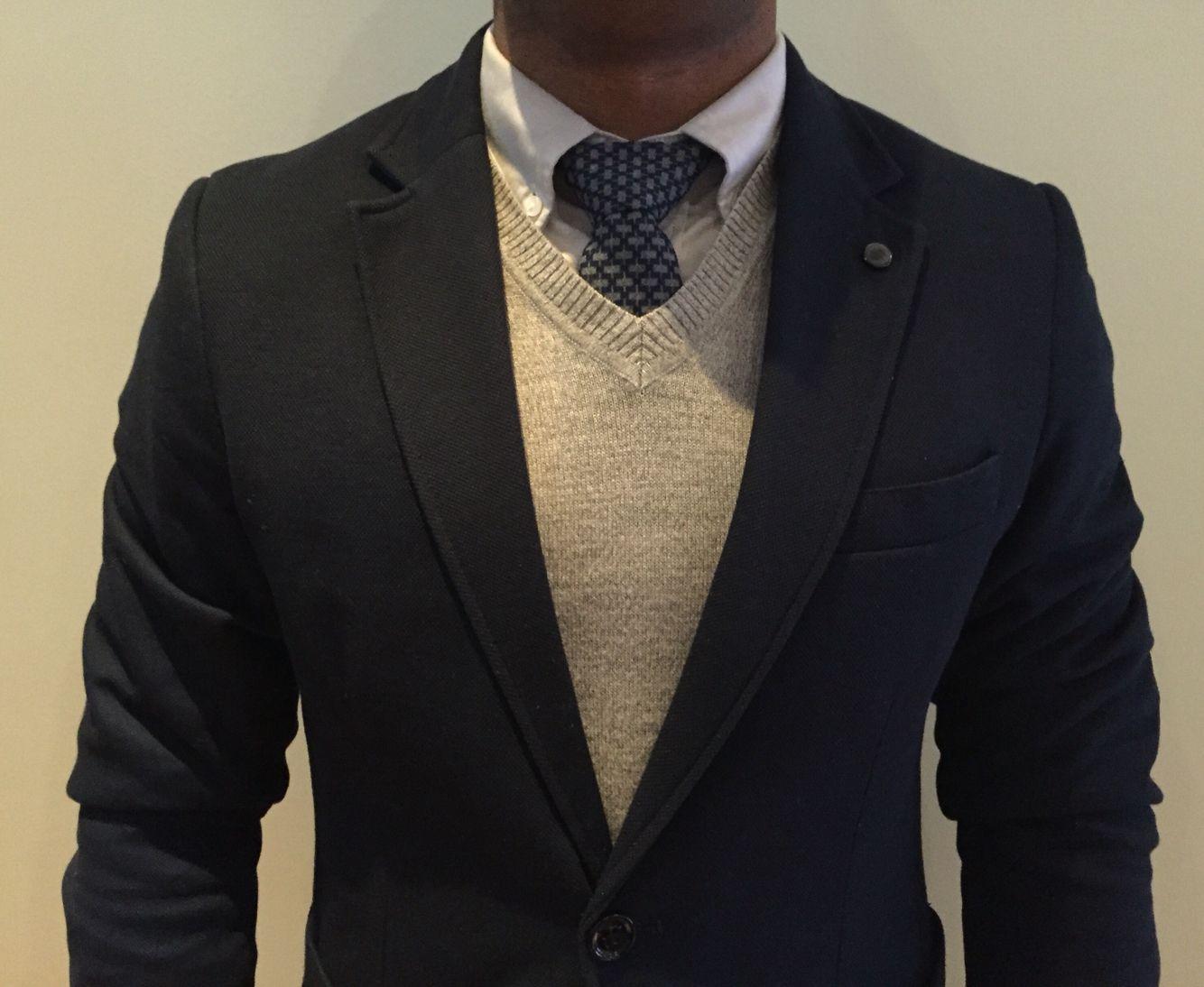 Men's fashion #zara blue  blazer