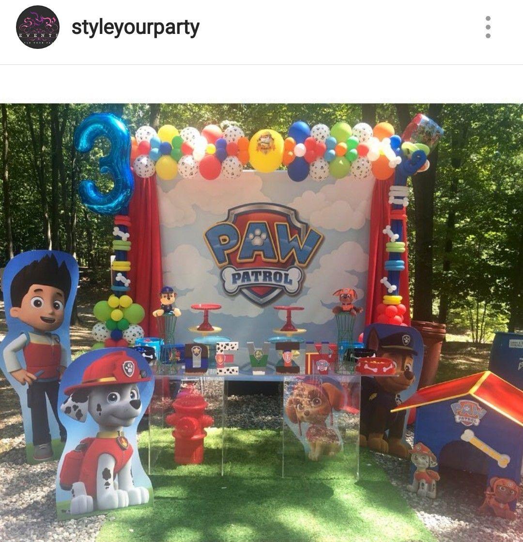 Outdoor Paw Patrol Birthday Party Dessert Table And Decor Paw Patrol Party Paw Patrol Birthday Party Paw Patrol Birthday