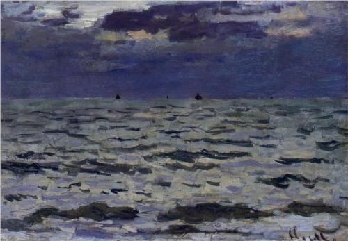 Seascape  - Claude Monet, 1866