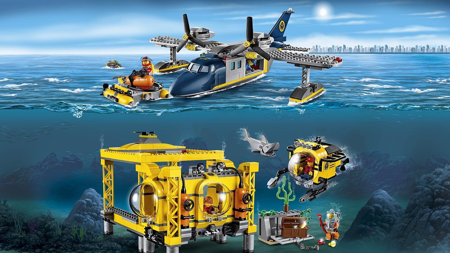 Deep Sea Operation Base With Images Lego City Lego Minifigs Lego City Sets