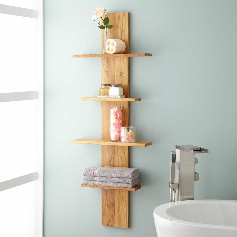 Wulan Hanging Bathroom Shelf – Four Shelves