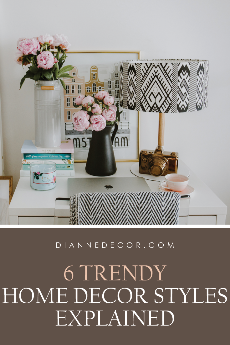 Learn all about the most popular home decor styles trending now.  Read