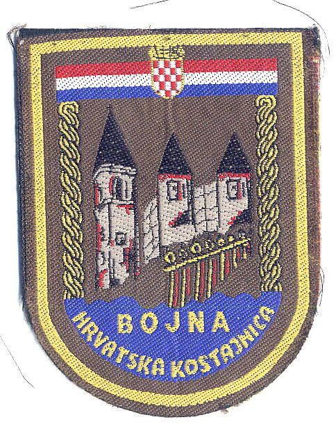 Croatia Army Hv Guard Battalion Hrvatska Kostajnica Sleeve Patch From 1993 Extremelyraresleevepatch With Images Military Insignia Battalion Croatia