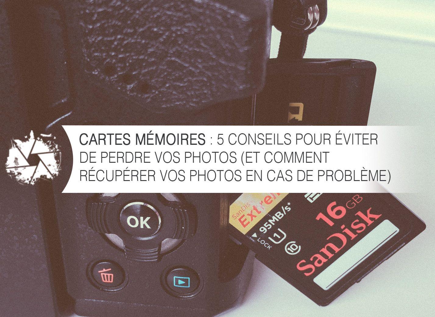 Cartes Mémoires : 5 conseils pour éviter de perdre vos photos (et comment les récupérer en cas de problème) via @nicolascroce