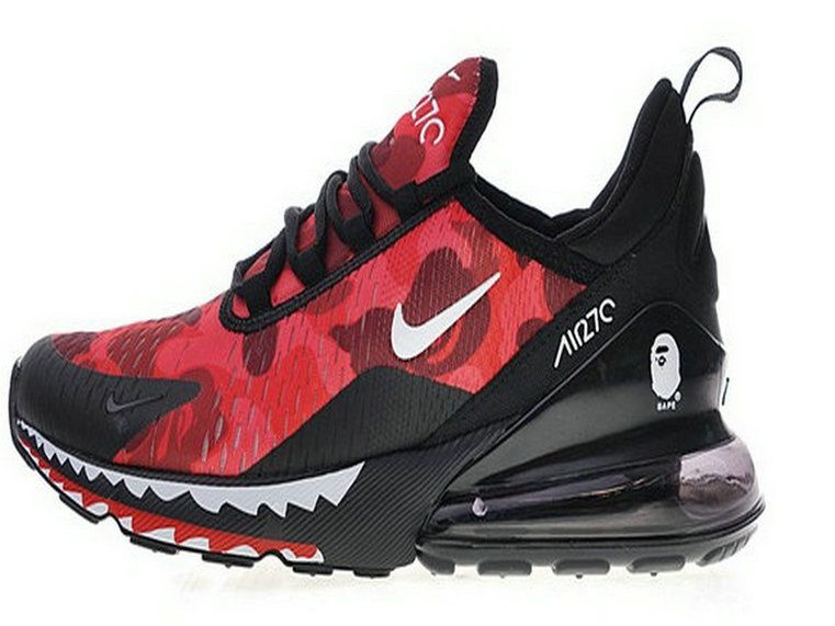 competitive price 3c0b0 84cd2 Nike Air Max 270 Red Black Shark Ah6799 016 Shoe