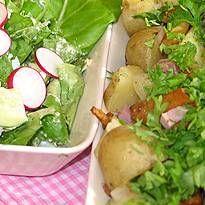 Sienipyttipannu ja vanhanajan salaatti