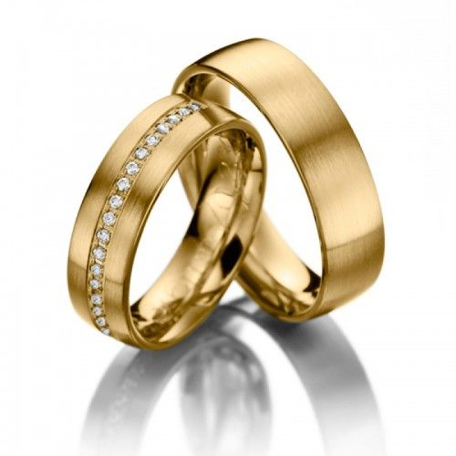 Verighete din Aur sau Platina cu diamante v085