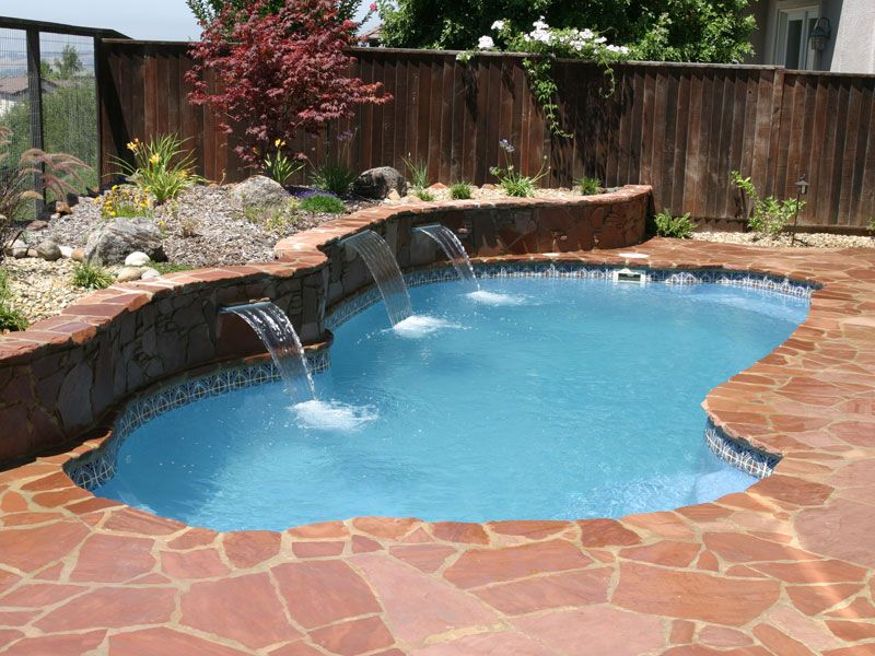 Viking Pools Freeport Traditional Small Freeform Fiberglass Pool