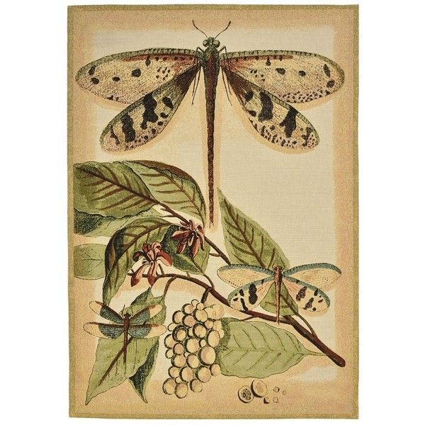 Dragonflies Tapestry with Rod ($430) ❤ liked on Polyvore featuring ...