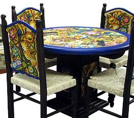 Handmade Mexican Carved Wood Furniture Collection Mexican