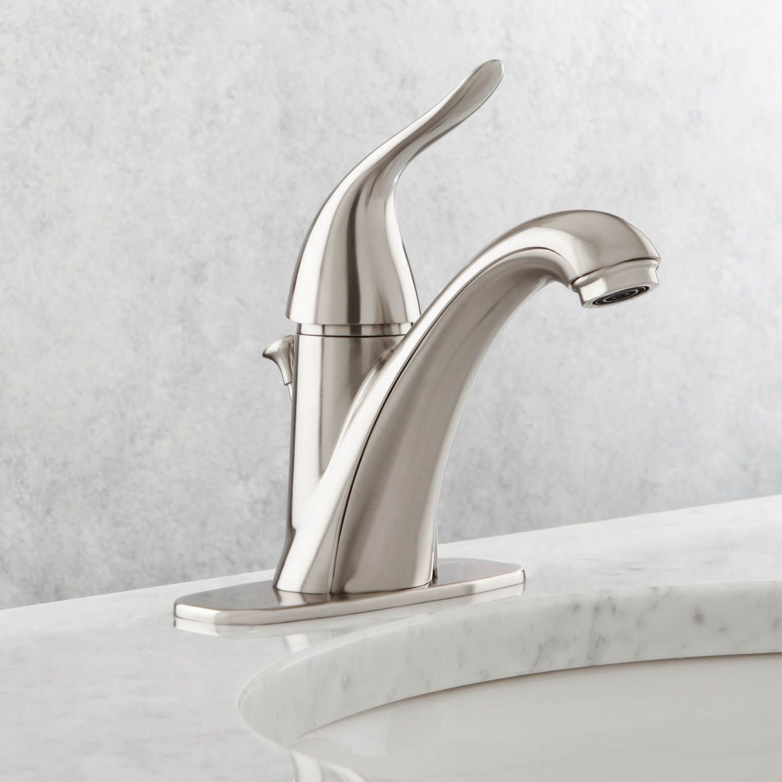 Danze D225521bn Antioch Single Hole Handle Mid Arc Bathroom Faucet In Brushed Nickel And Bath