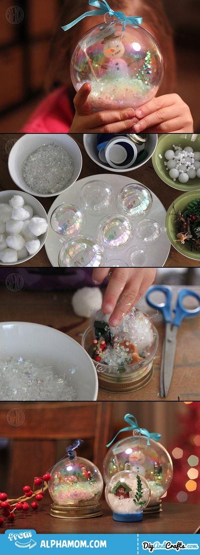Waterless Snow Globes Christmas snow globes, Diy