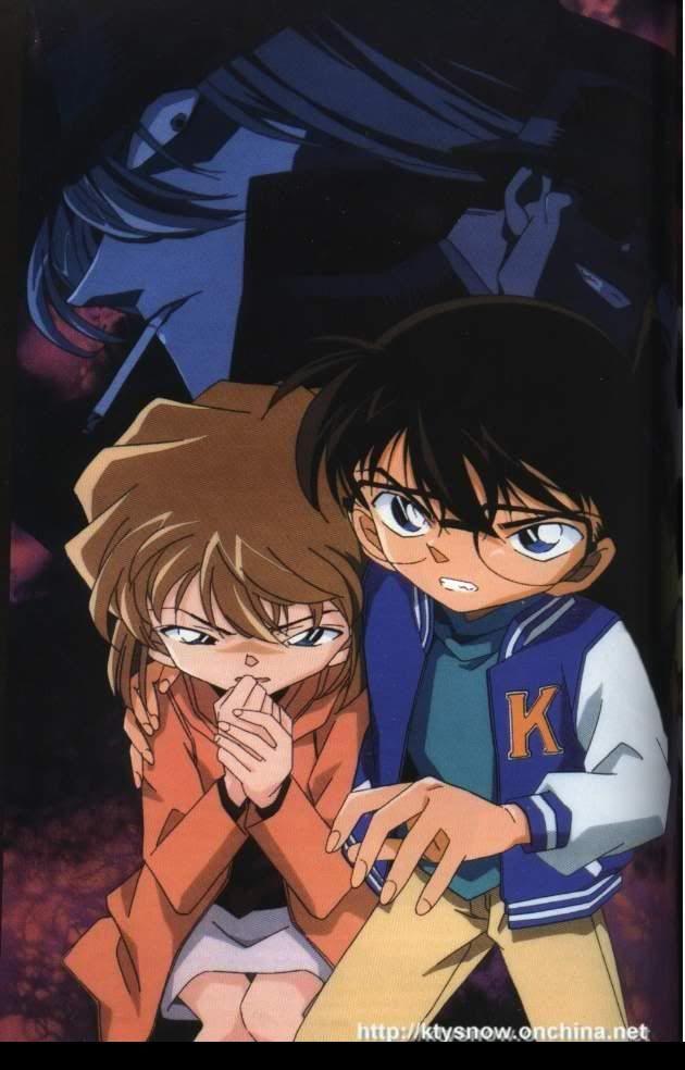 Conan Edogawa tries his best to protect Haibara Ai from Gin, of the Black Organization.