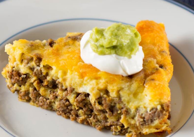 Crustless Low Carb Taco Pie #healthy #recipe | Low carb ...