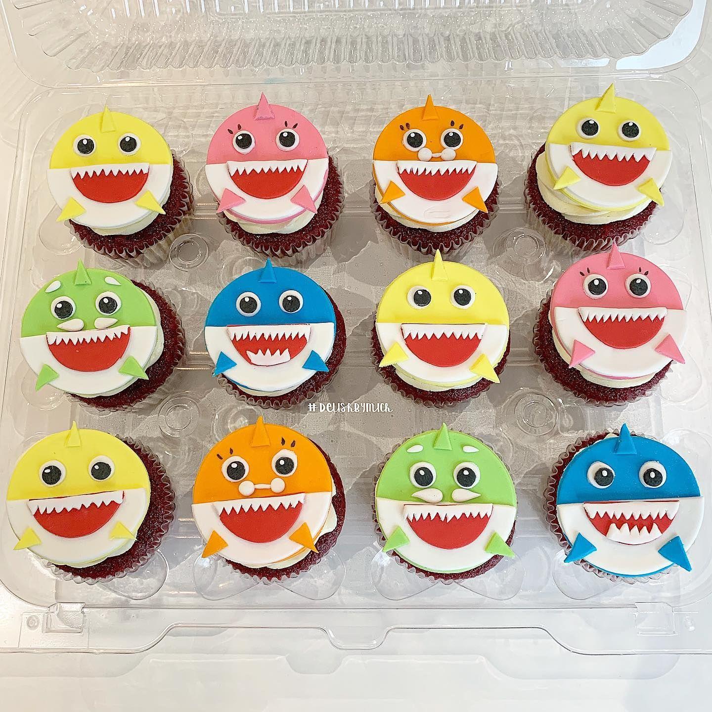 Baby Shark Cupcakes Shark Cupcakes Birthday Cupcakes Boy Baby