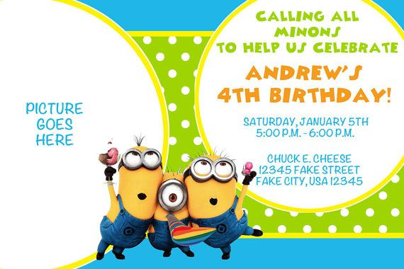 despicable me minions birthday invitation my boys my world