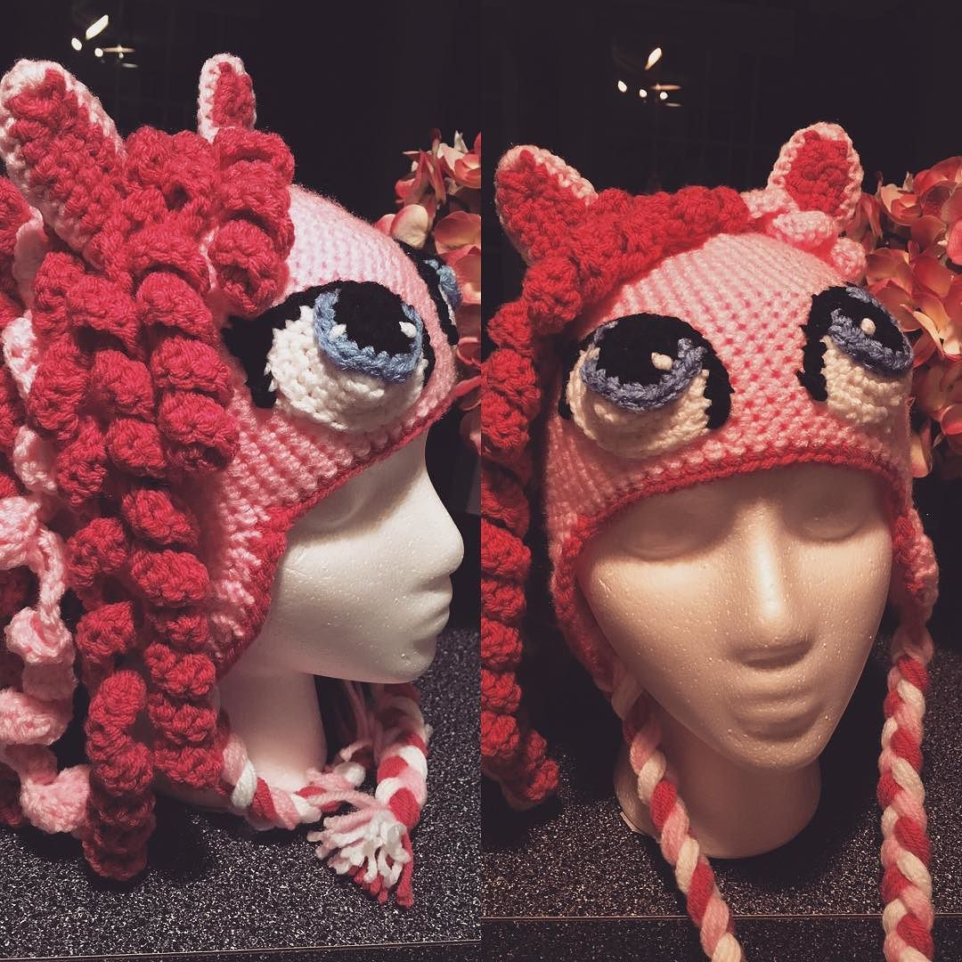 She's done!!! Finished for a special little girl...I'm excited on how she turned out!! #crochetersofinstagram #pinkiepie #mylittlepony #wip by jessmowery