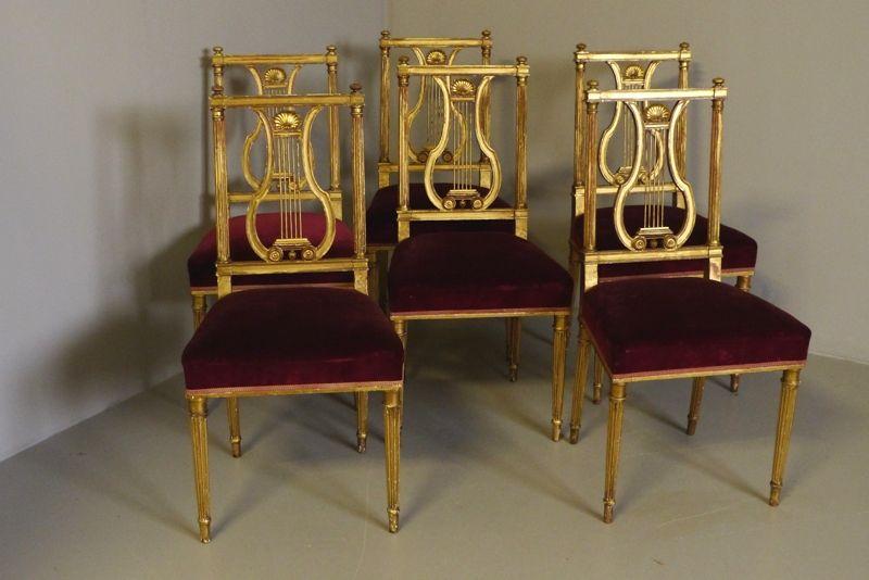 sillas de comedor color dorado
