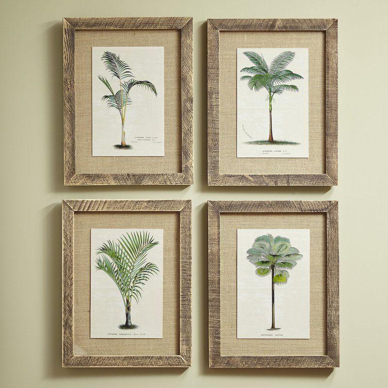 Birch Lane Palm Tree Framed Prints Reviews Wayfair Palm Tree Decor Bedroom Palm Tree Bathroom Decor Traditional Wall Art