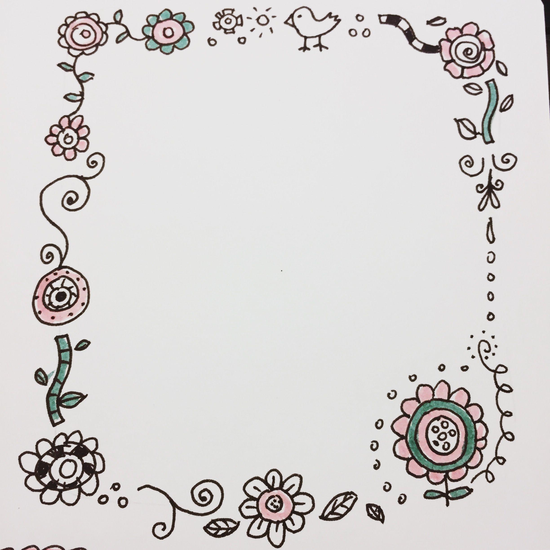 Handlettering Rahmen Blumen Doodles | Handlettering Basics ...