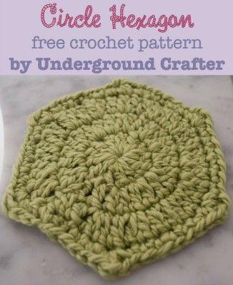 Crochet Pattern: Circle Hexagon in Galler Yarns Inca Eco | Deberes y ...