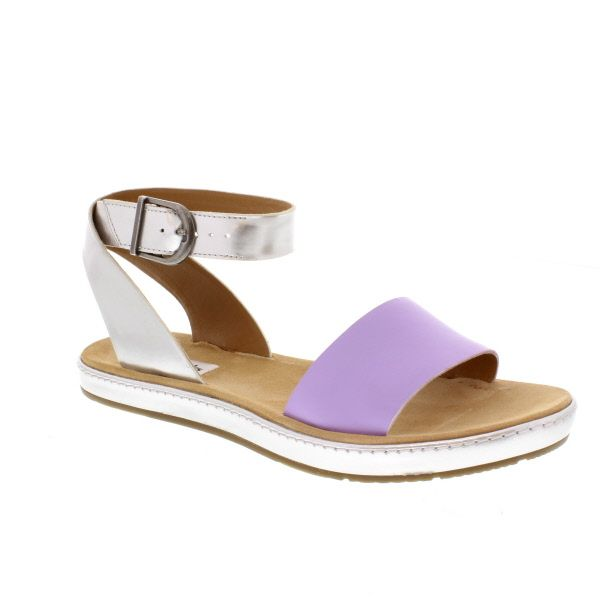 958585d4bb602 A pop of colour is perfect for summer - Clarks Romantic Moon Lilac Combi -  Clarks from Bells Shoes UK