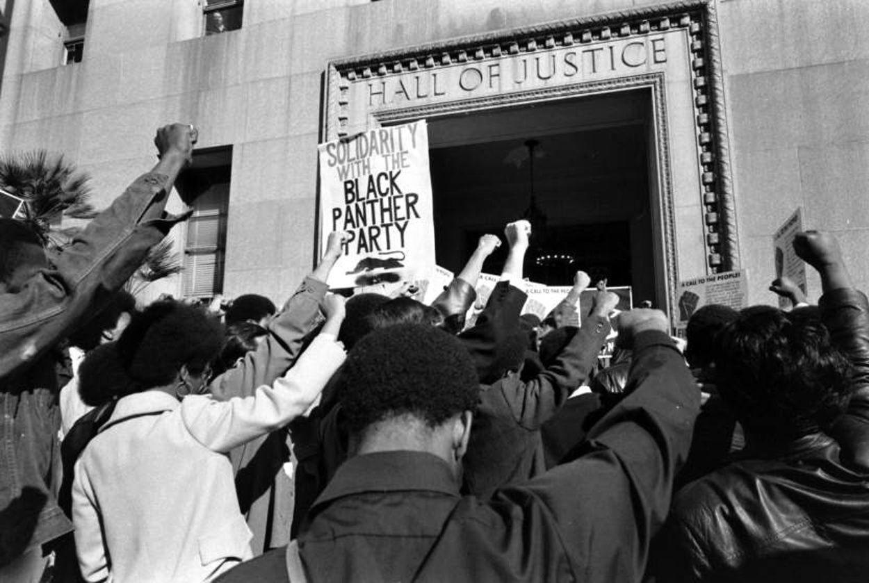Ralph Crane - Black Panthers protest, San Francisco, 1970.