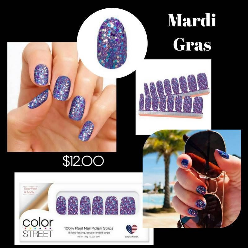 Mardi Gras Click On The Link To Shop Color Street Is 100 Nail Polish No Dry Time Easy To Apply Last For U Color Street Nails Color Street Nail Polish