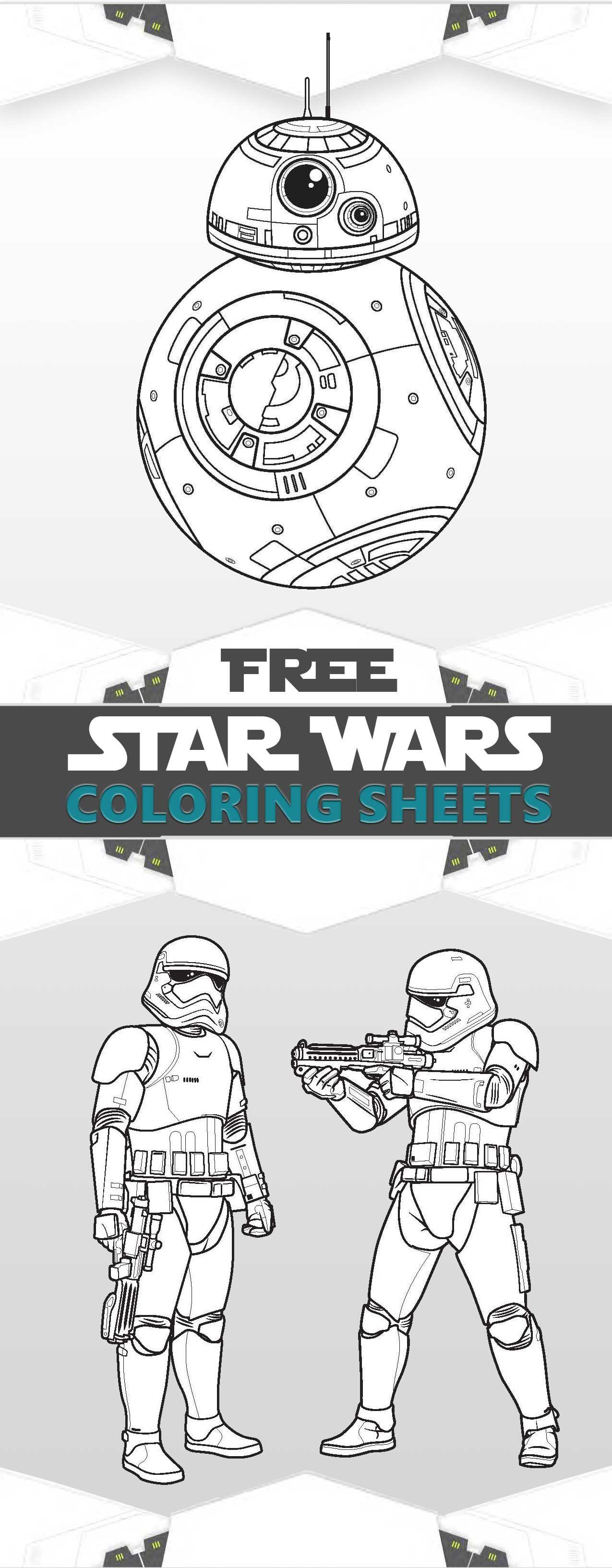 star-wars-coloring-sheets.jpg 1,275×3,266 pixeles | Fiesta Jorge ...
