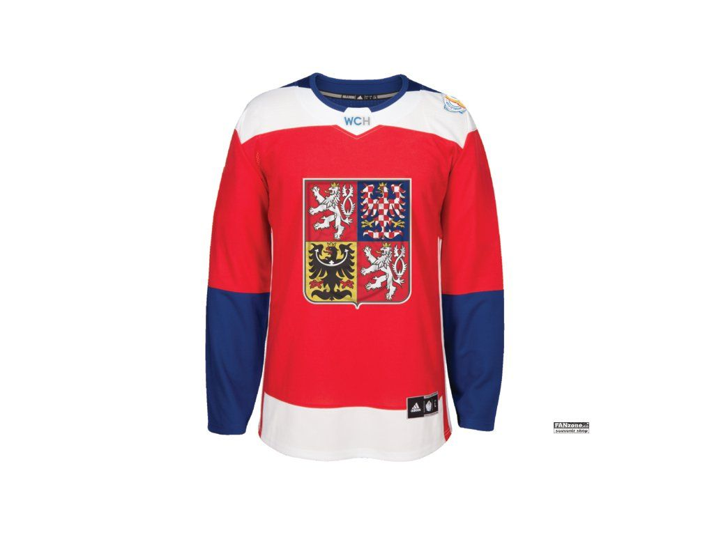 Domaci Dres Tymu Ceska Republika 2016 World Cup Of Hockey Hockey World Cup Adidas Men Long Sleeve Tshirt Men