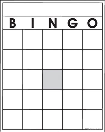 Blank Bingo Cards By Top Notch Top3520 Bingo Template Blank Bingo Cards Bingo Card Template