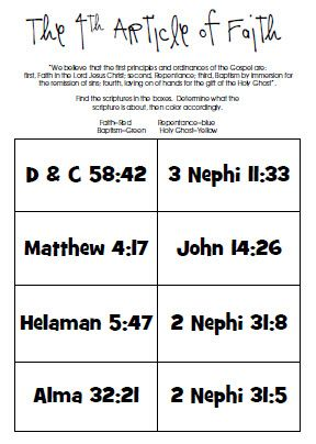 Worksheet Faith Worksheets fourth article of faith worksheet young womens pinterest worksheet